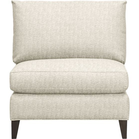 Klyne II Armless Sectional Chair | Crate and Barrel  sc 1 st  Pinterest : crate and barrel klyne sectional - Sectionals, Sofas & Couches