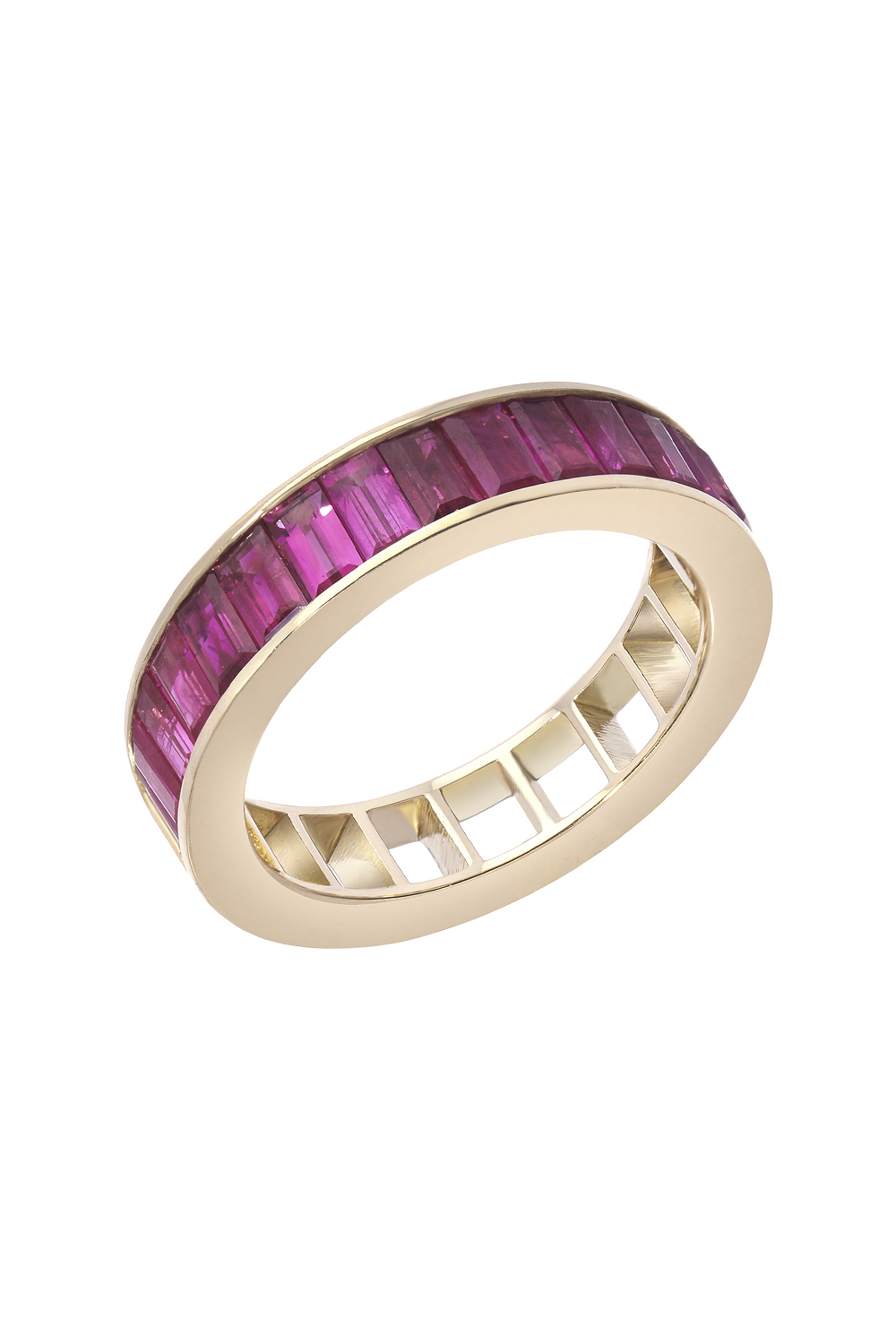 3dc7ce9ae6dc The 50 50 ring is made of 18K Yellow Gold. It consists of half-channel set