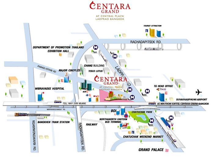 Centara Grand at Central Plaza Ladprao Bangkok | Thailand ...