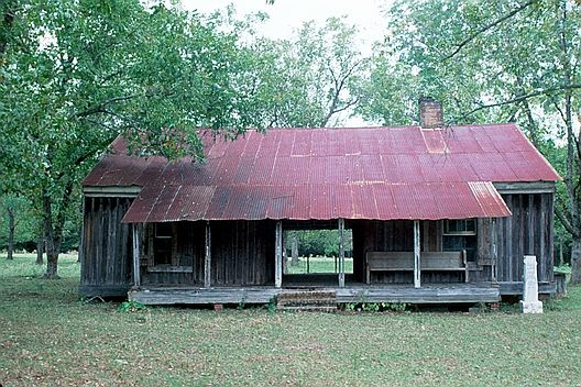 dogtrot style house - two cabins divideda porch (dogtrot). one