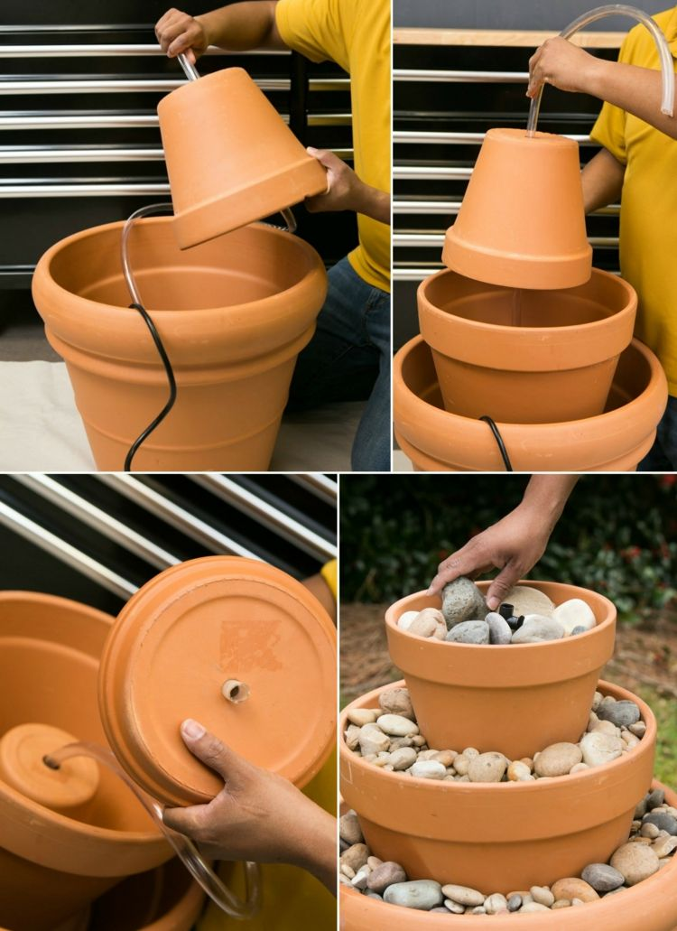 Diy Terracotta Tabletop Fountain Project For Outdoors Diy Water