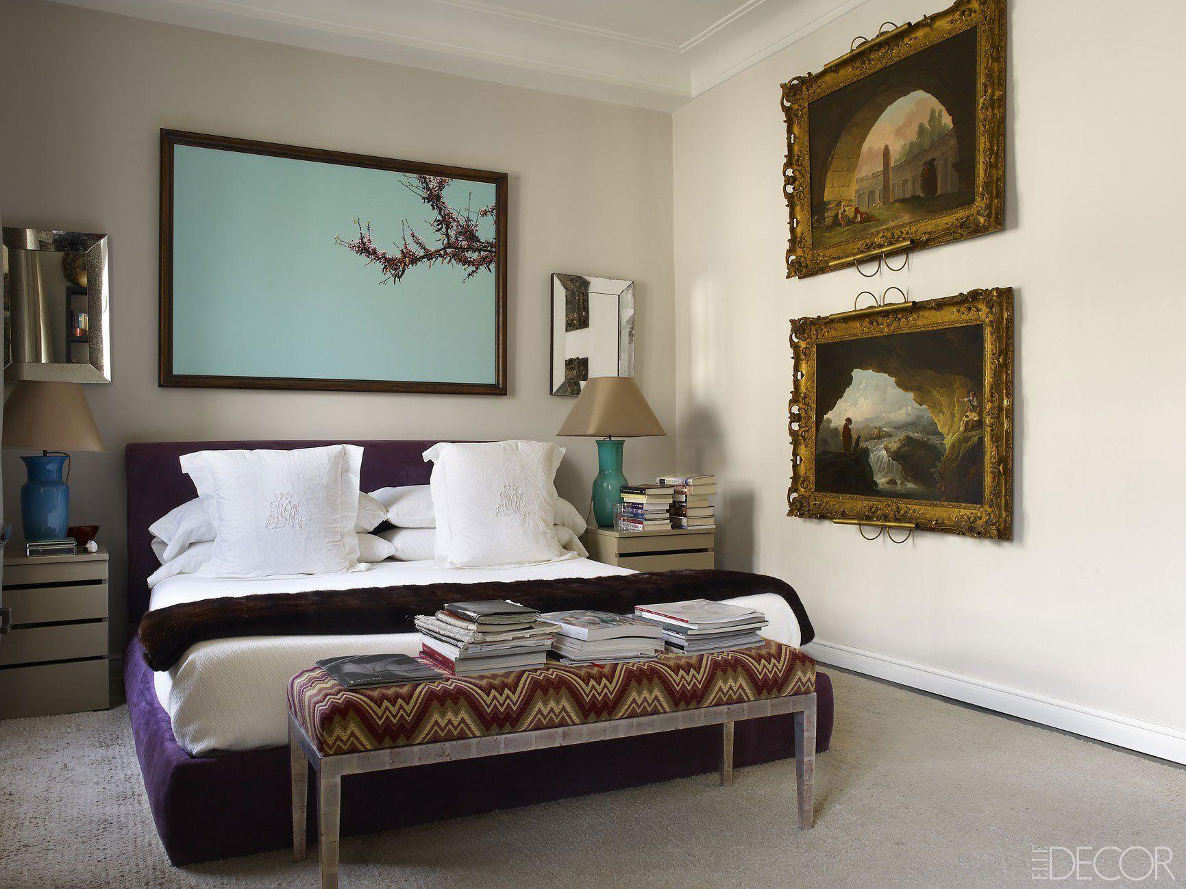 Elle decor master bedroom  manolo march madrid apartment  Bedroom  Pinterest  Madrid