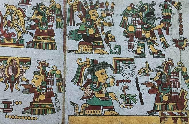 detalle genealogia soberano teozacoalco mixteca