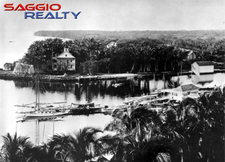 "A real #TBT #ThrowbackThursday  #Brickell before the lights and glam. ""View of the Brickell family home at Brickell Point on the Miami River in 1898. Today, this site is home to the Icon condominiums, Viceroy Hotel and Miami Circle park."""