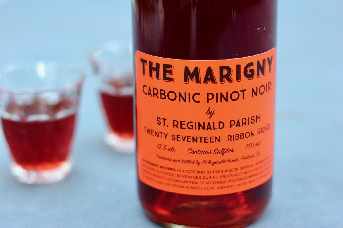 2018 St Reginald Parish The Marigny Carbonic Pinot Noir In 2020 Cheese And Wine Tasting Pinot Noir Wine And Cheese Party