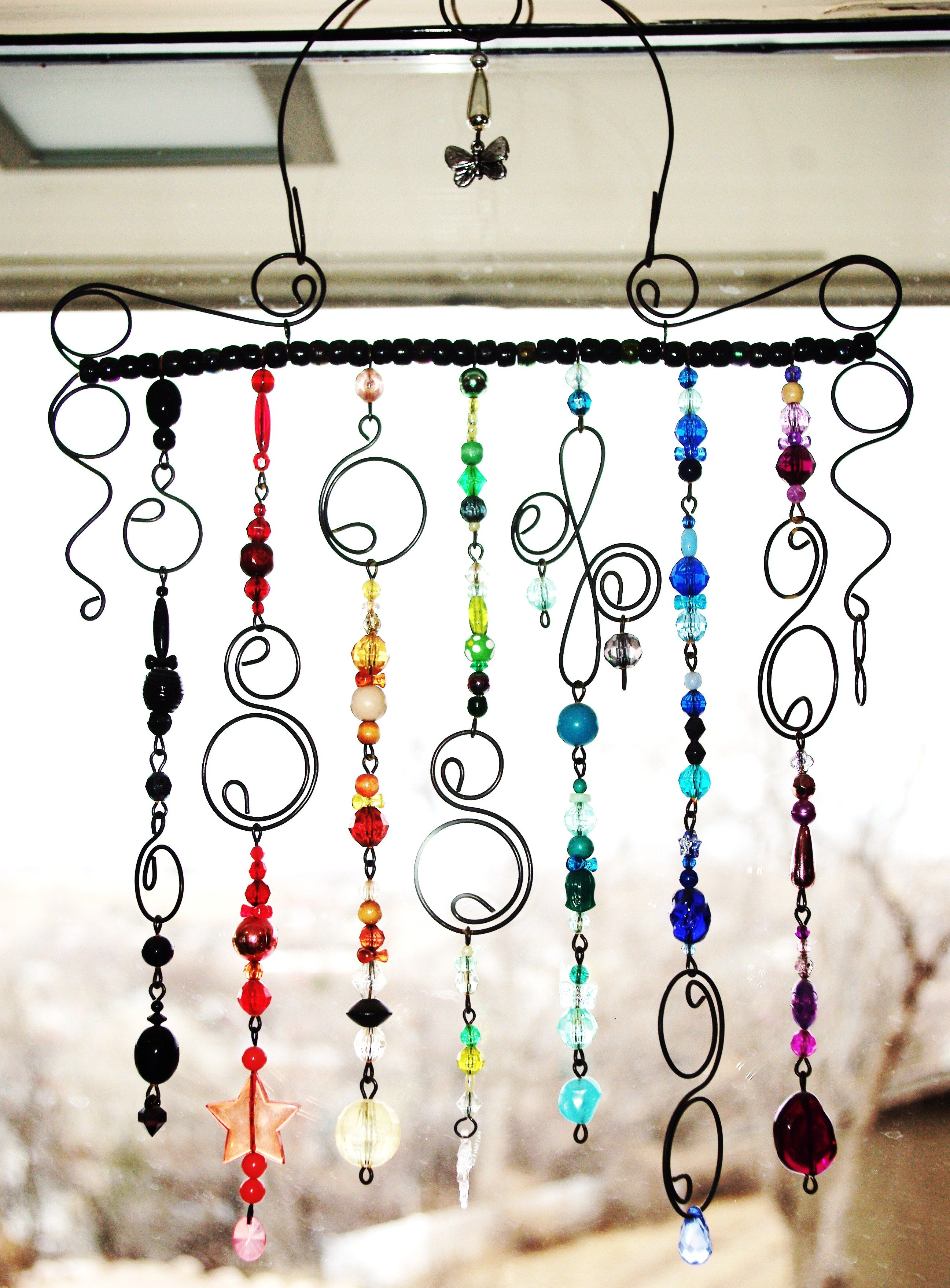 Beads & Wire - make individually as Christmas ornaments?