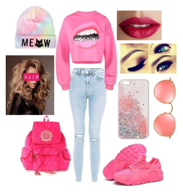 """Untitled #202"" by jacobsbae ❤ liked on Polyvore featuring New Look, NIKE, TheBalm, Ray-Ban and Juicy Couture"