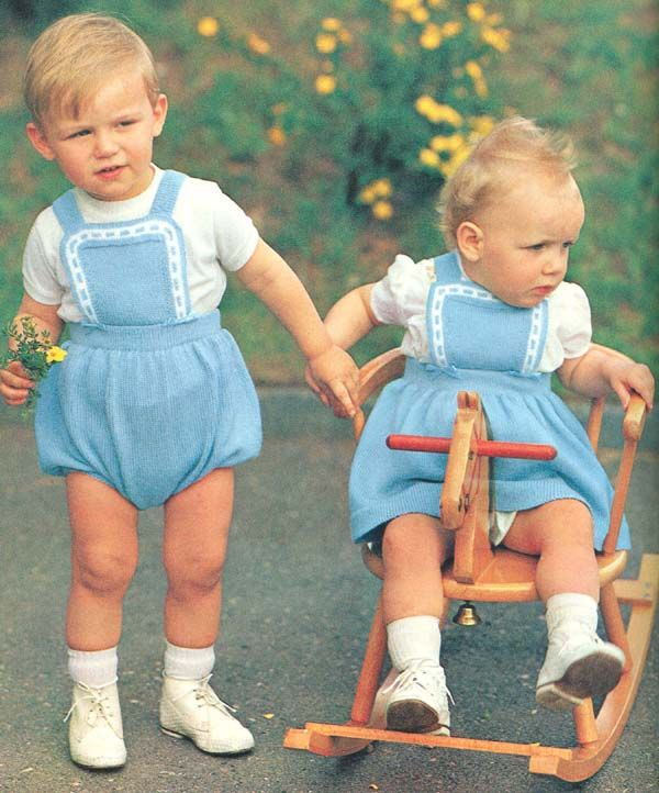 Vintage 1960s Knit Brother Sister Romper Dress Pattern Pdf