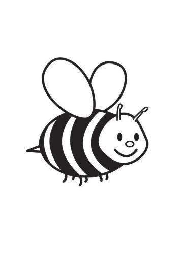 Coloring Page Bee Dibujo De Abeja Animales Para Pintar Paginas