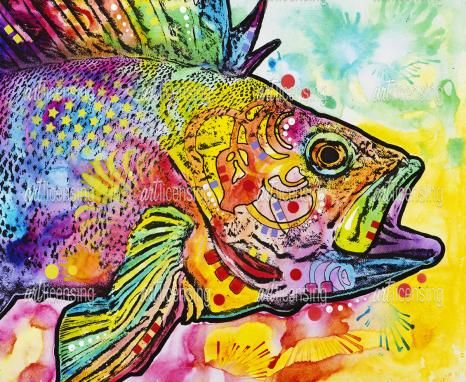 a very colorful fish!  -  Fish | Art Licensing   - Dean Russo, artist