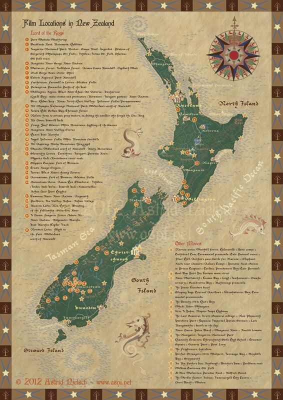 Map of lord of the rings filming locations in new zealand new map of lord of the rings filming locations in new zealand publicscrutiny Images