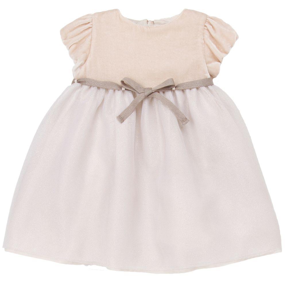 05764790d4e7 Designer baby girl MINI BLUSH VELVET DRESS