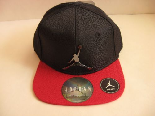 d1c5678c4ab New-NIKE-Jordan-Infant-Baseball-Hat-12-24M-Black-Red-Elephant-Chrome-Jumpman
