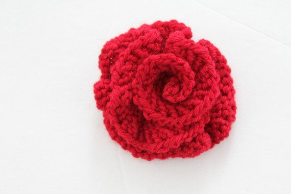 PATTERN - Knitted Flower PDF Pattern Very Easy Photo