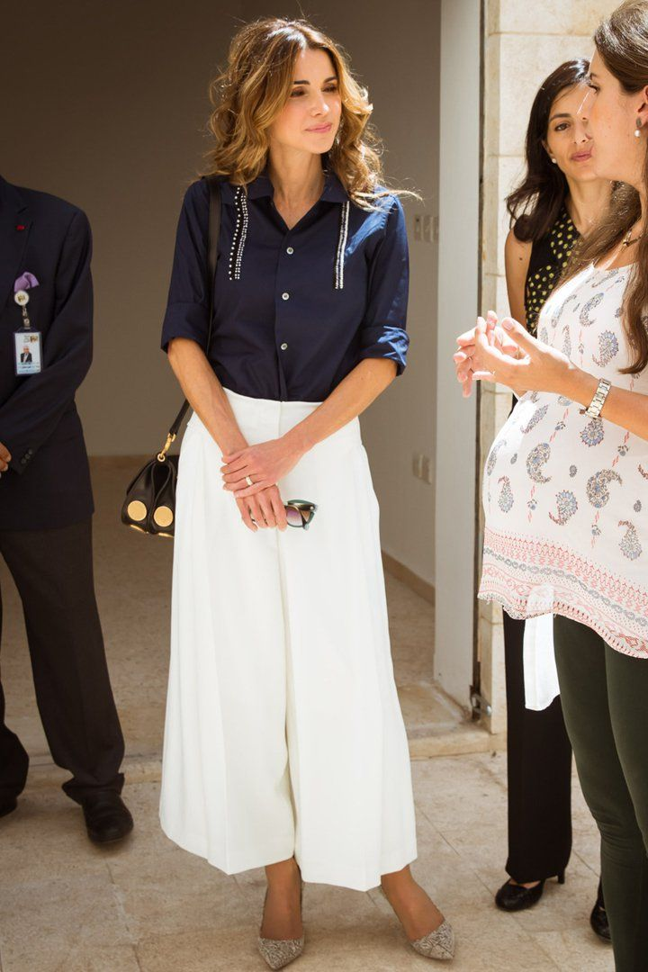 Pin for Later: You Know You Want to Wear Queen Rania's Blouse to the Office Tomorrow