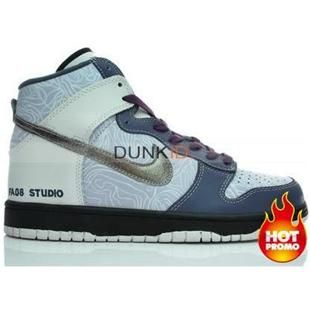 huge selection of e6564 dad9c Mens Nike Dunk High FA08 Studio White Gold Purple
