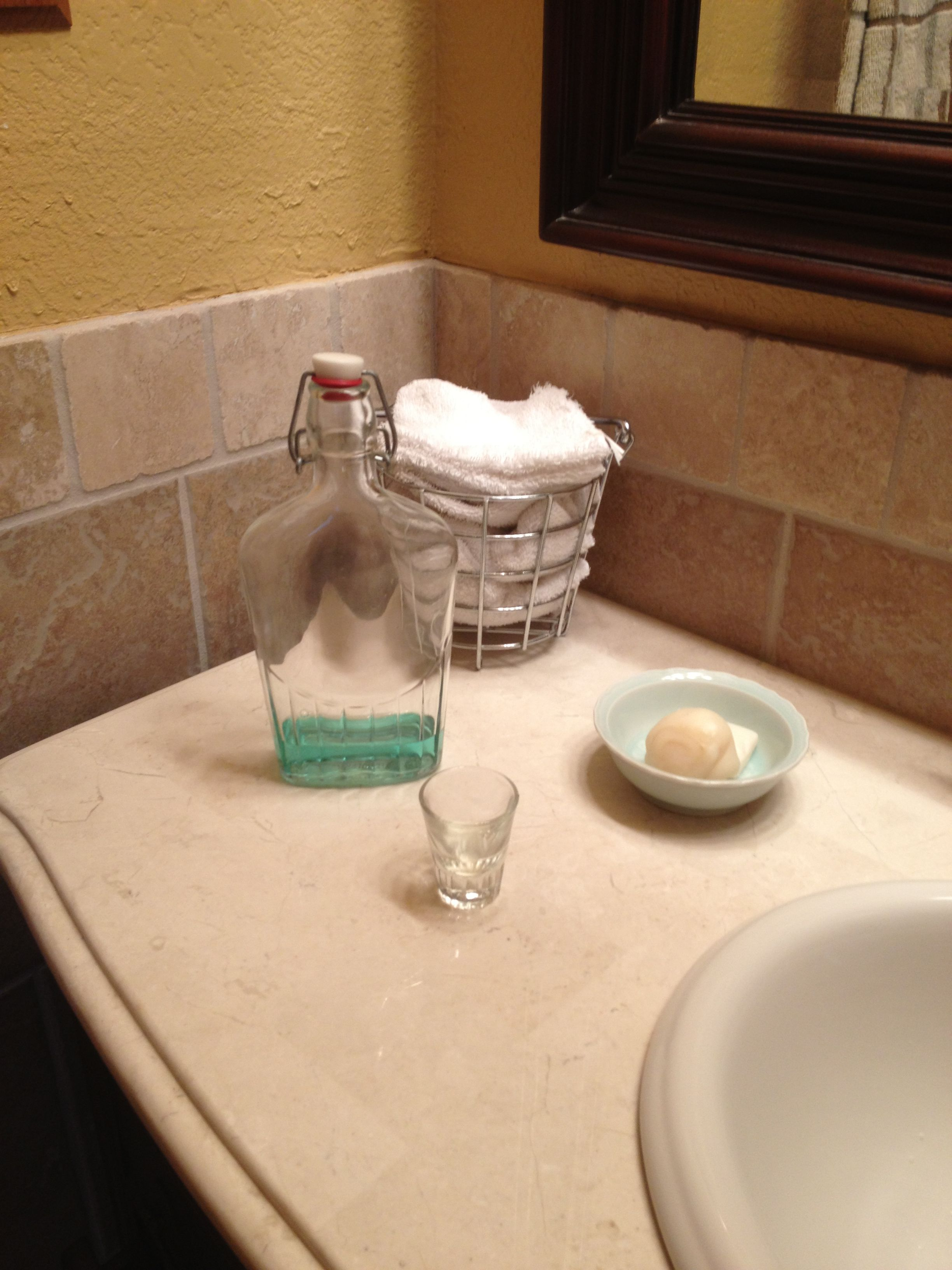 For The Bathroom Bottle For Mouthwash Shot Glass Instead Of