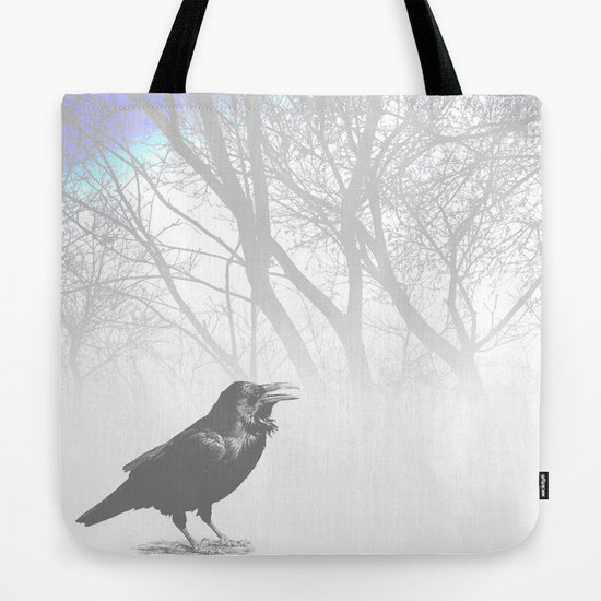 Small clutch bag artwork by L.Dumas Bag Purse Crow Raven bird art