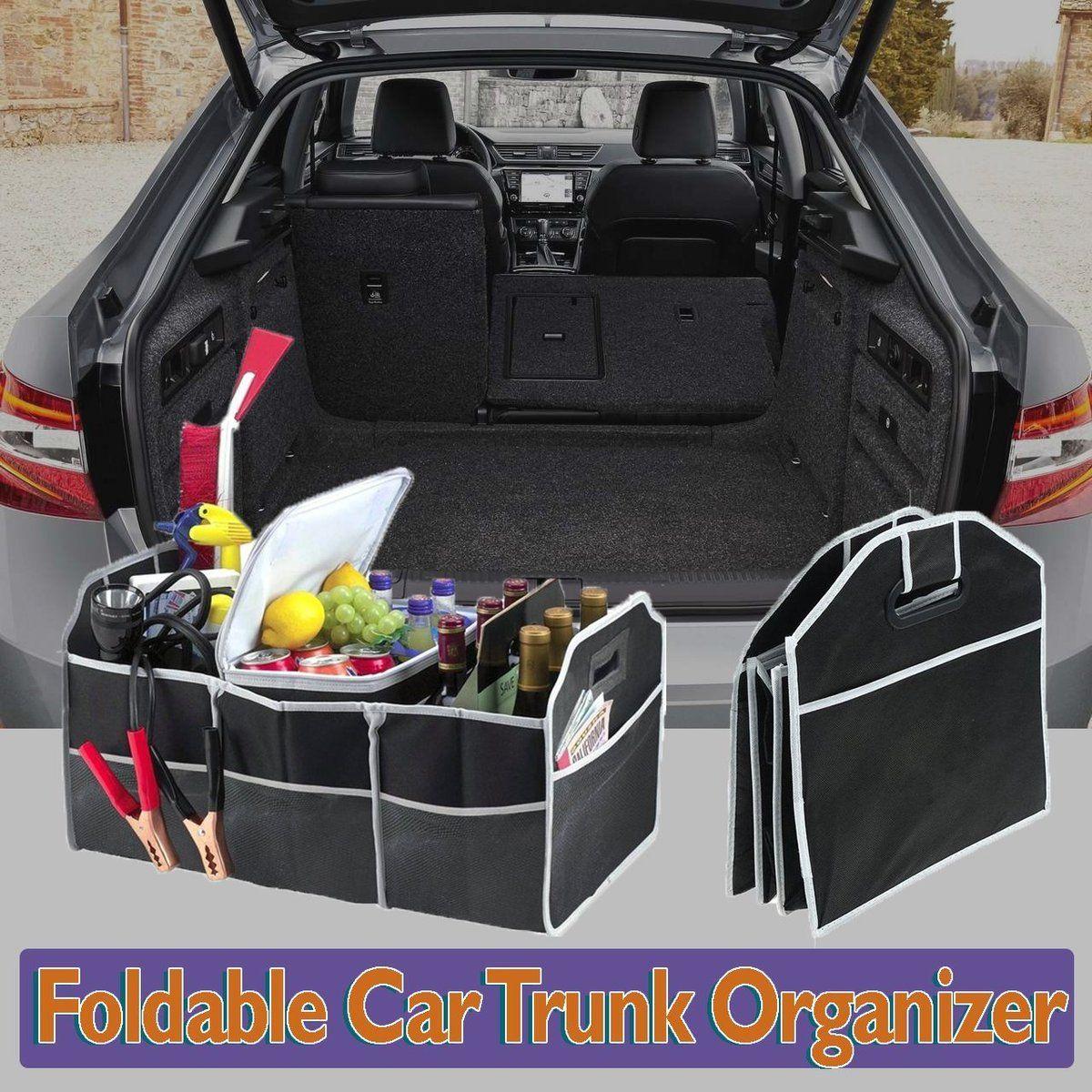 Foldable car trunk organizer trunk organization car