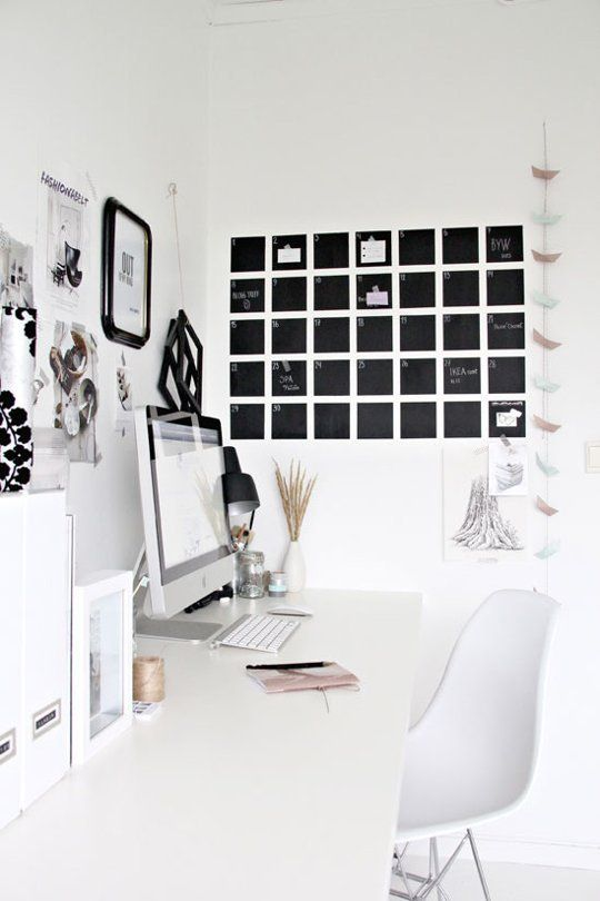 Do it yourself projects in black white diy chalkboard diy chalkboard pain calendar minimalist design solutioingenieria Gallery