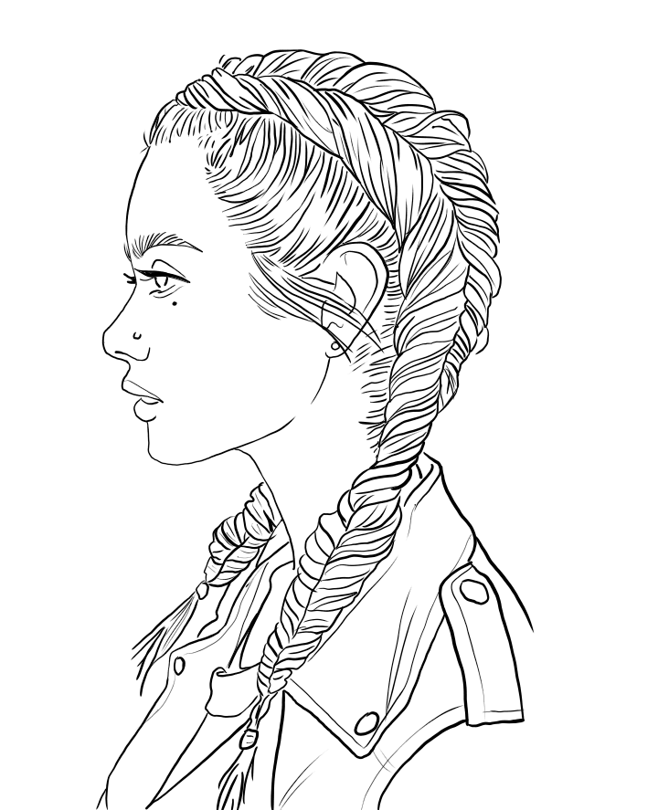 Idea by Rosie Chavez on art | People coloring pages, Cute ...