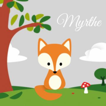 geboortekaartje vos - Google zoeken