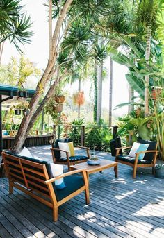 Avant Garde Furniture Deck Tropical With Cable Railing