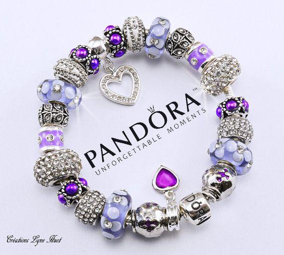 Authentique Bracelet PANDORA argent sterling avec charmes ou ...