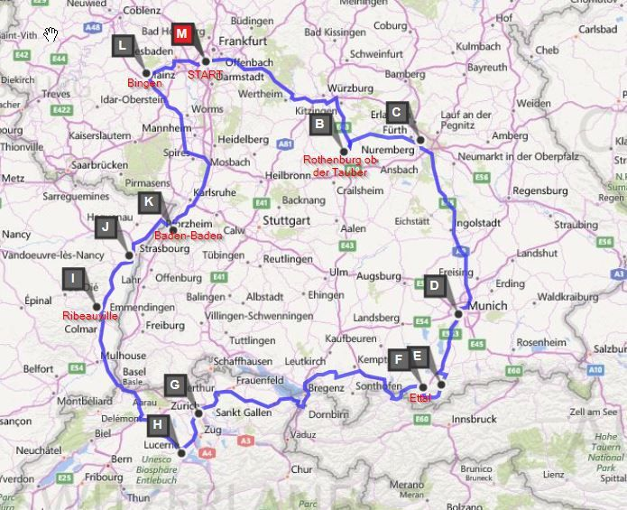 15day European road trip itinerary through Germany Alsace France