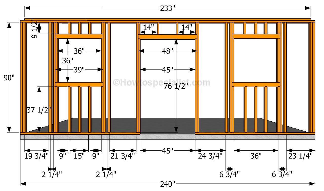 Building the side walls sheds and garage plans for A frame house plans with garage