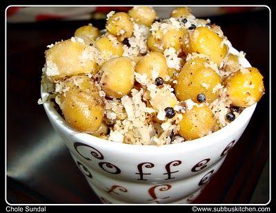 Navarathri Sundal Recipes   Chickpeas Sundal (Chole Sundal)   Subbus Kitchen