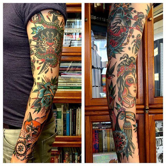 Seven Seas Tattoos On Instagram Sleeve By Kimanh N Eindhoventattoo Tattoos Tattoo Sleeve Designs Traditional Tattoo Sleeve