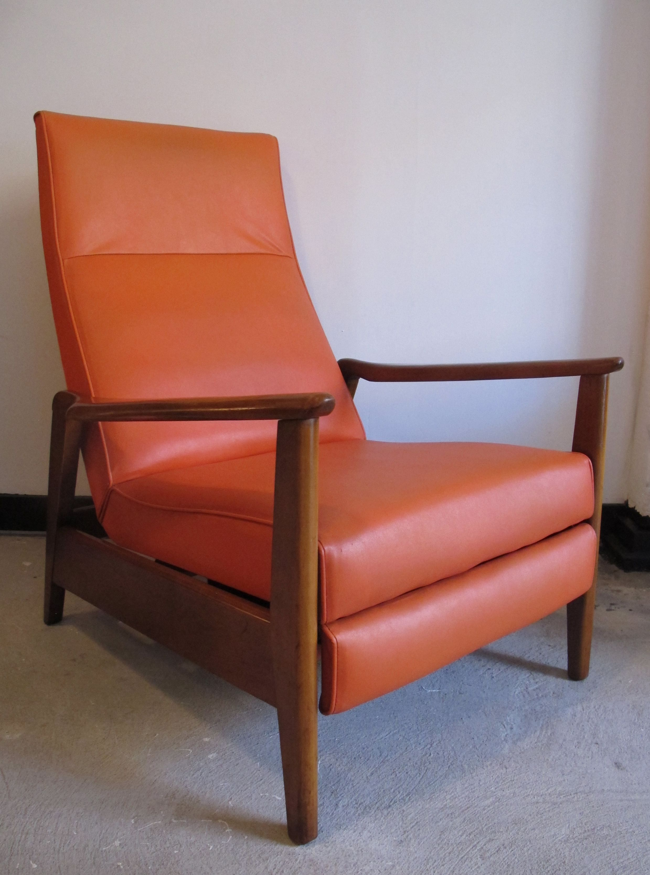 MID CENTURY MILO BAUGHMAN RECLINING LOUNGE CHAIR (With ...