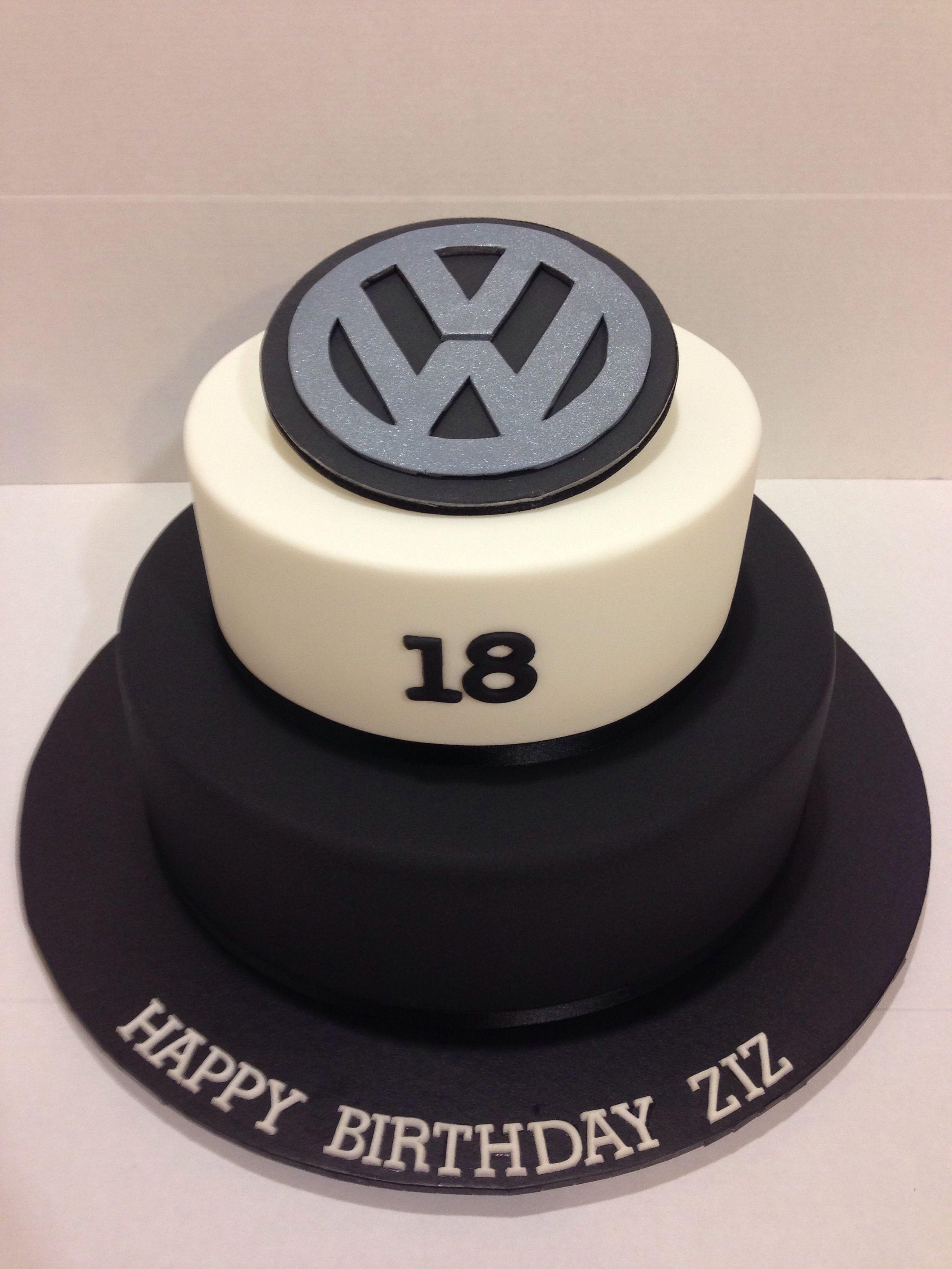 Vw Logo 18th Birthday Cake Made By Sweetsbysuzie Melbourne Geburtstag Kuchen Dekorieren Geburtstagskuchen Fur Jungen Tortendeko