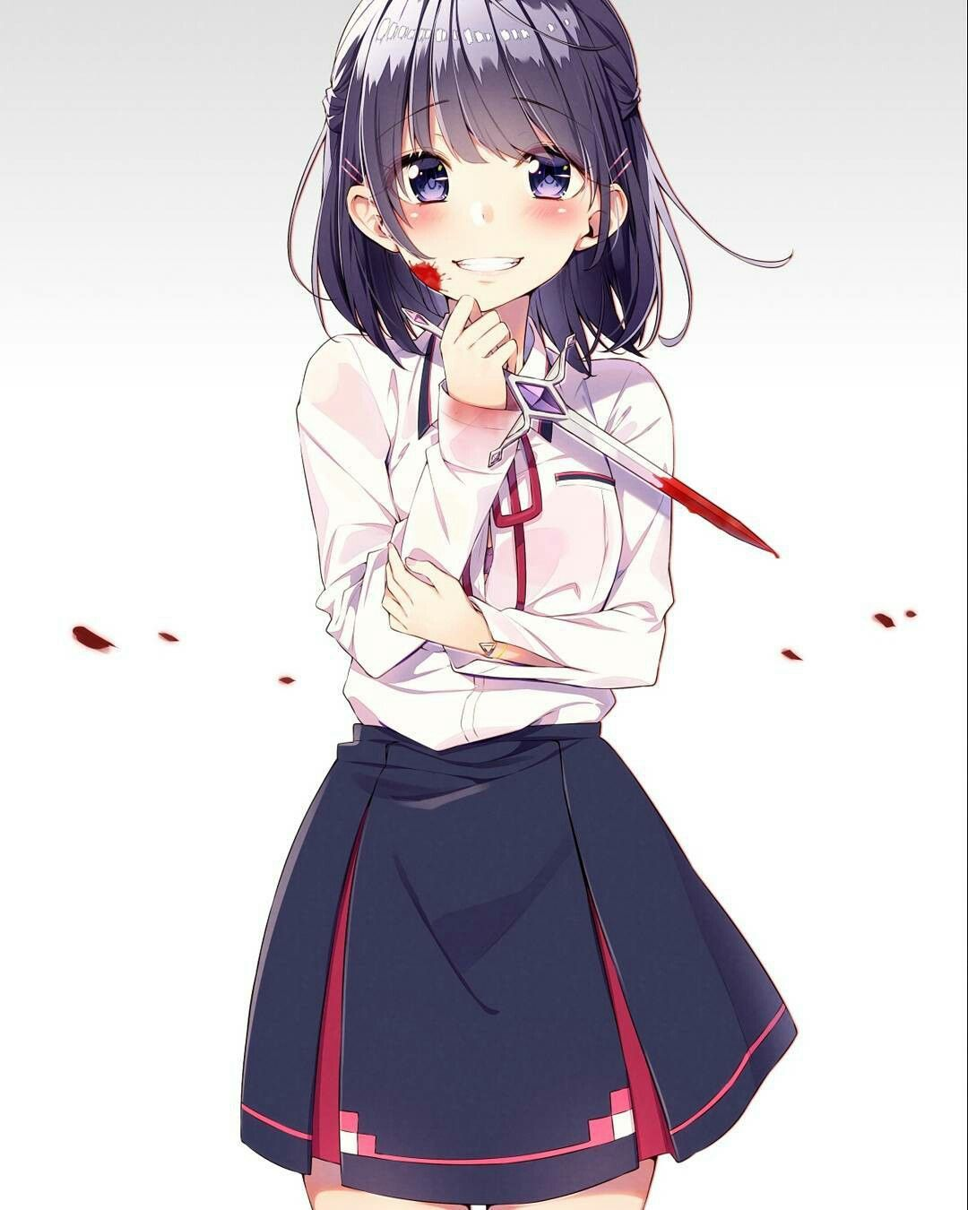 Assassin cute anime girl yandere