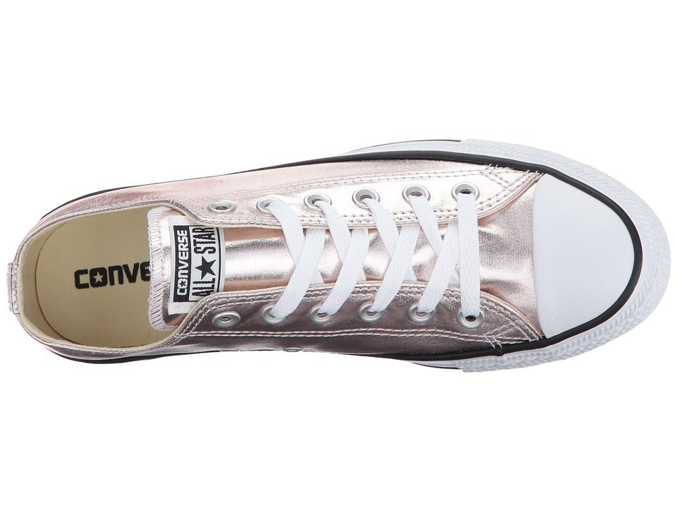 Converse Chuck Taylor All Star Metallic Canvas - Ox Lace up casual Shoes  Rose Quartz White Black d9f5eaa0b
