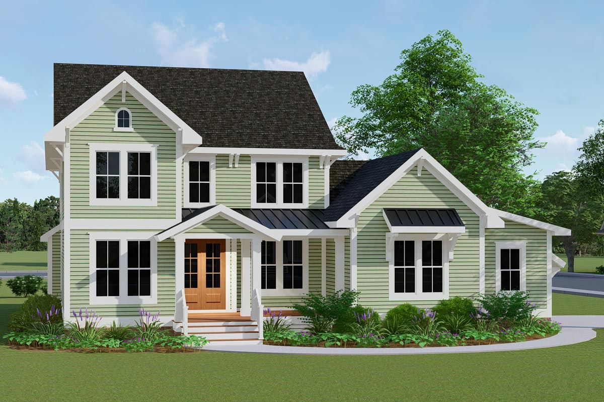 Plan 500070VV Exclusive Twostory Farmhouse Plan with