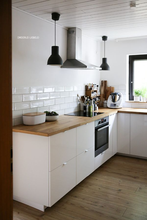 unsere küche | the white, white doors and cabinets, Moderne