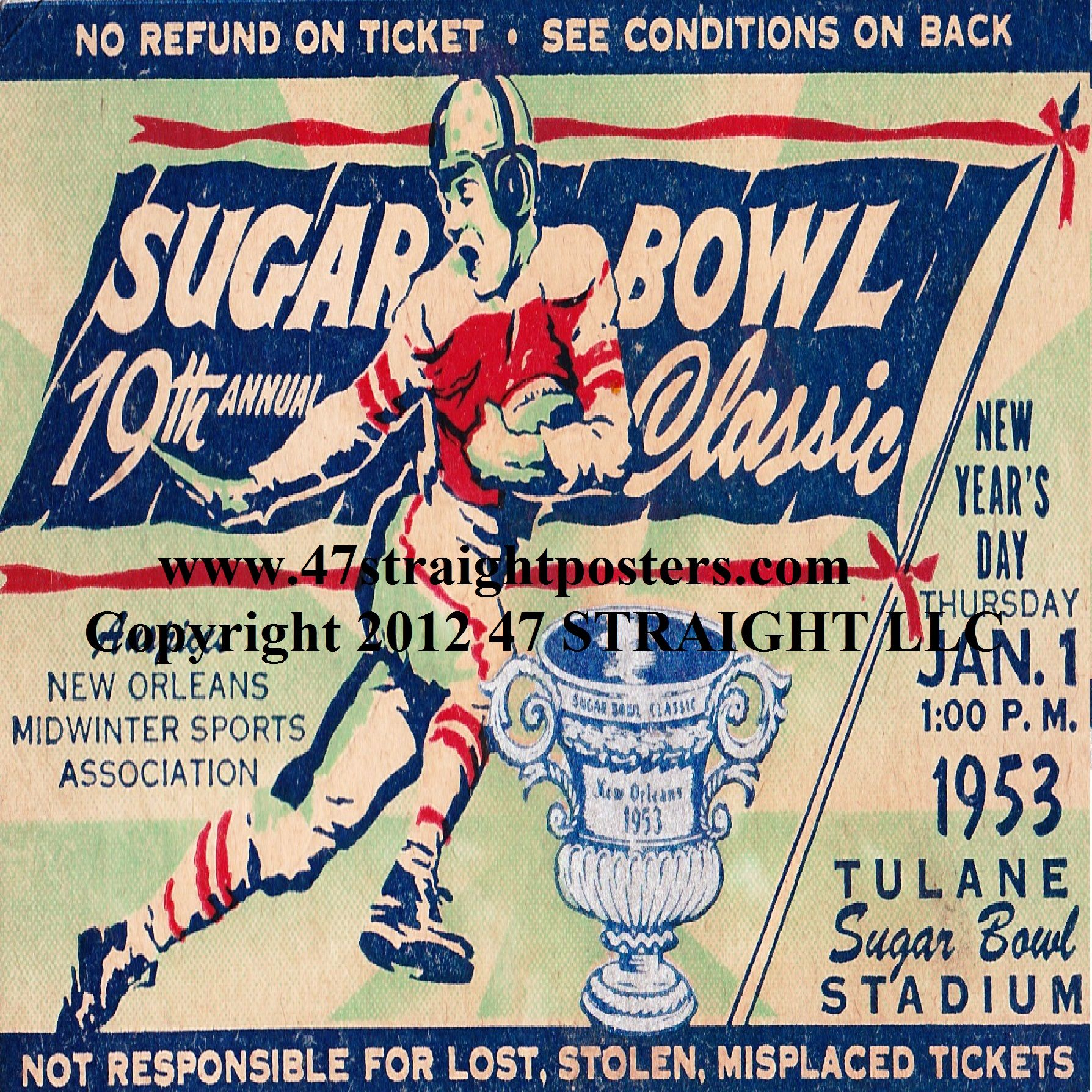 Tech won the National Title in 1952. Sugar Bowl
