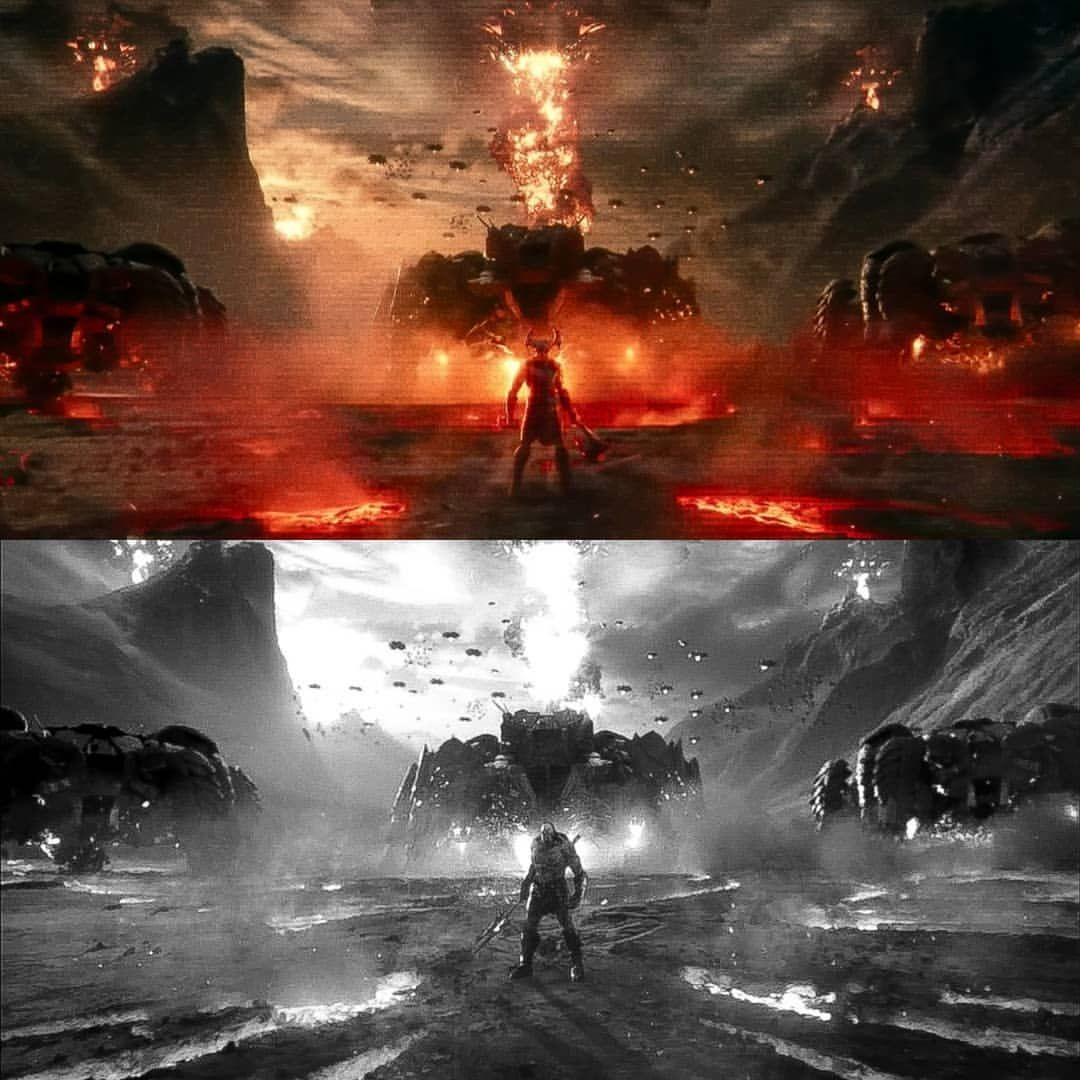 The Top Is The Theatrical Release Of Justice League The Bottom Is The Snydercut Of Justice League They Literally Repl Darkseid Justice League Picture Video