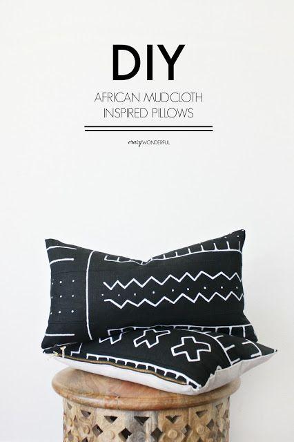 Crazy Wonderful Diy African Mud Cloth Pillows Diy Pillows African Mud Cloth Mud Cloth
