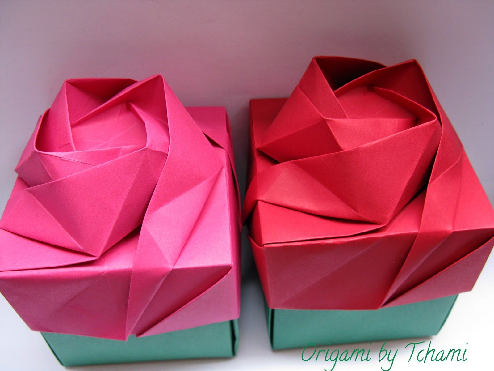 Origami by Tchami: Rose box tutorial | origami - photo#6