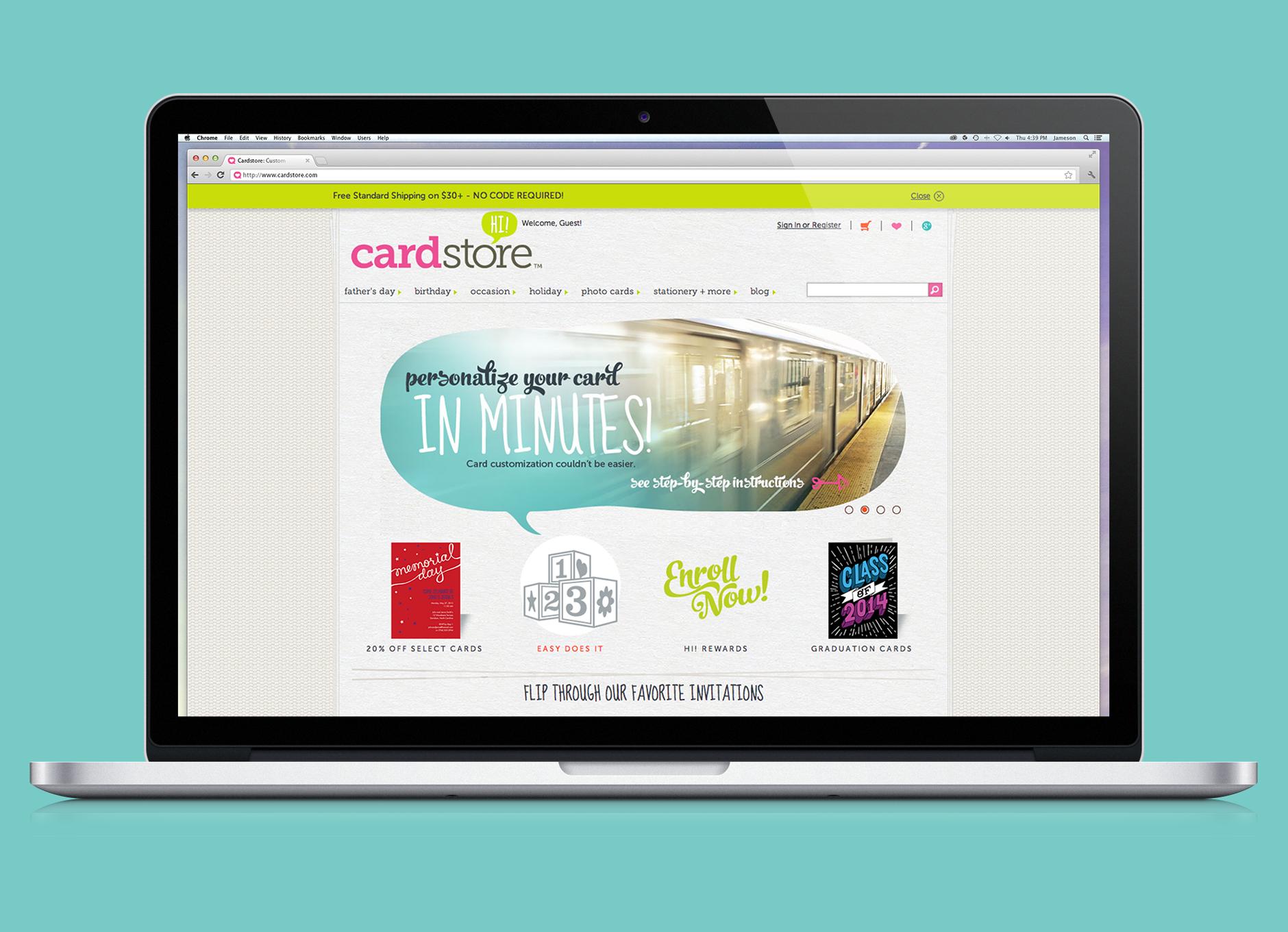 American Greetings Cardstore Website Design Designroom