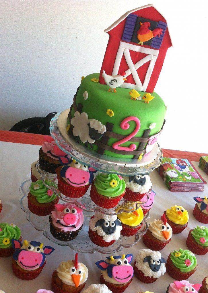 Magnificent Two Years Old Happy 2Nd Birthday Barnyard Cake Boy Birthday Funny Birthday Cards Online Hetedamsfinfo