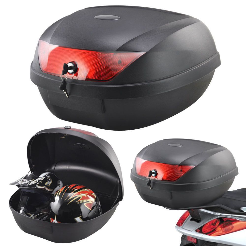 Motorcycle Motorbike Moped Luggage Clothing Helmet Storage Box   Holds 2  Helmets #Tekbox