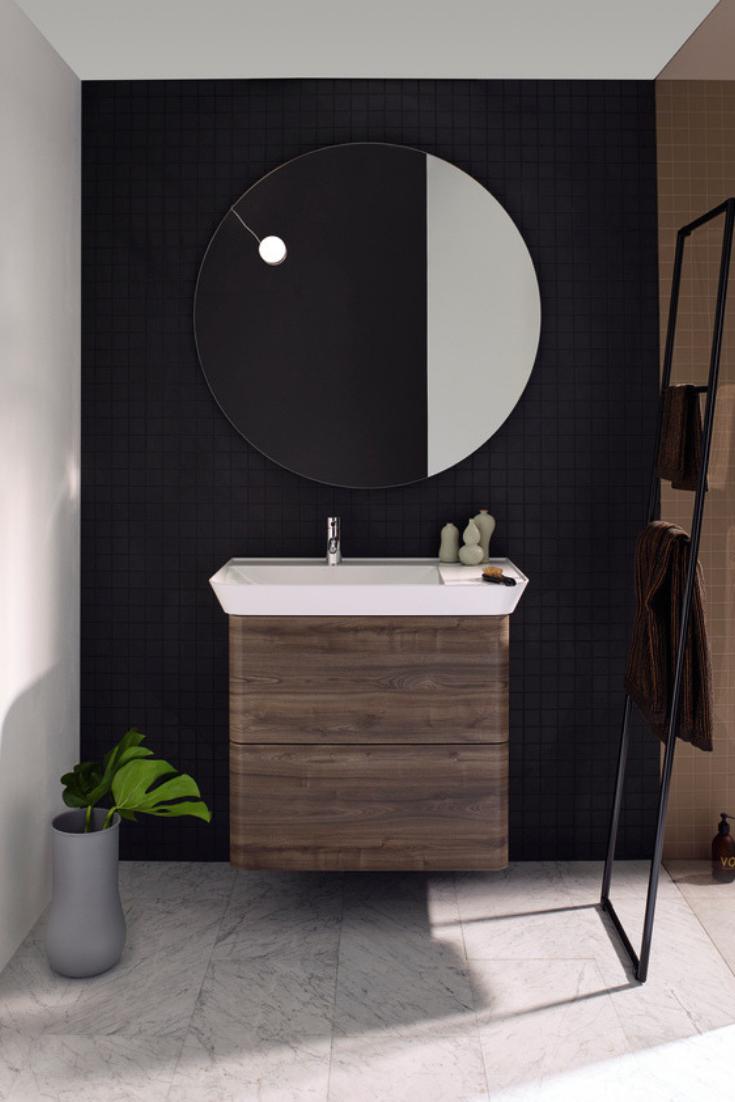 Burgbad Iveo Leuchtspiegel Mit Led Beleuchtung Sihq100 Breite 1000mm Runde Badezimmerspiegel Waschtisch Waschtischunterschrank