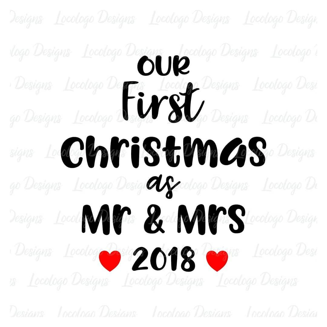 Pin by Becca Smith on Cricut First christmas married