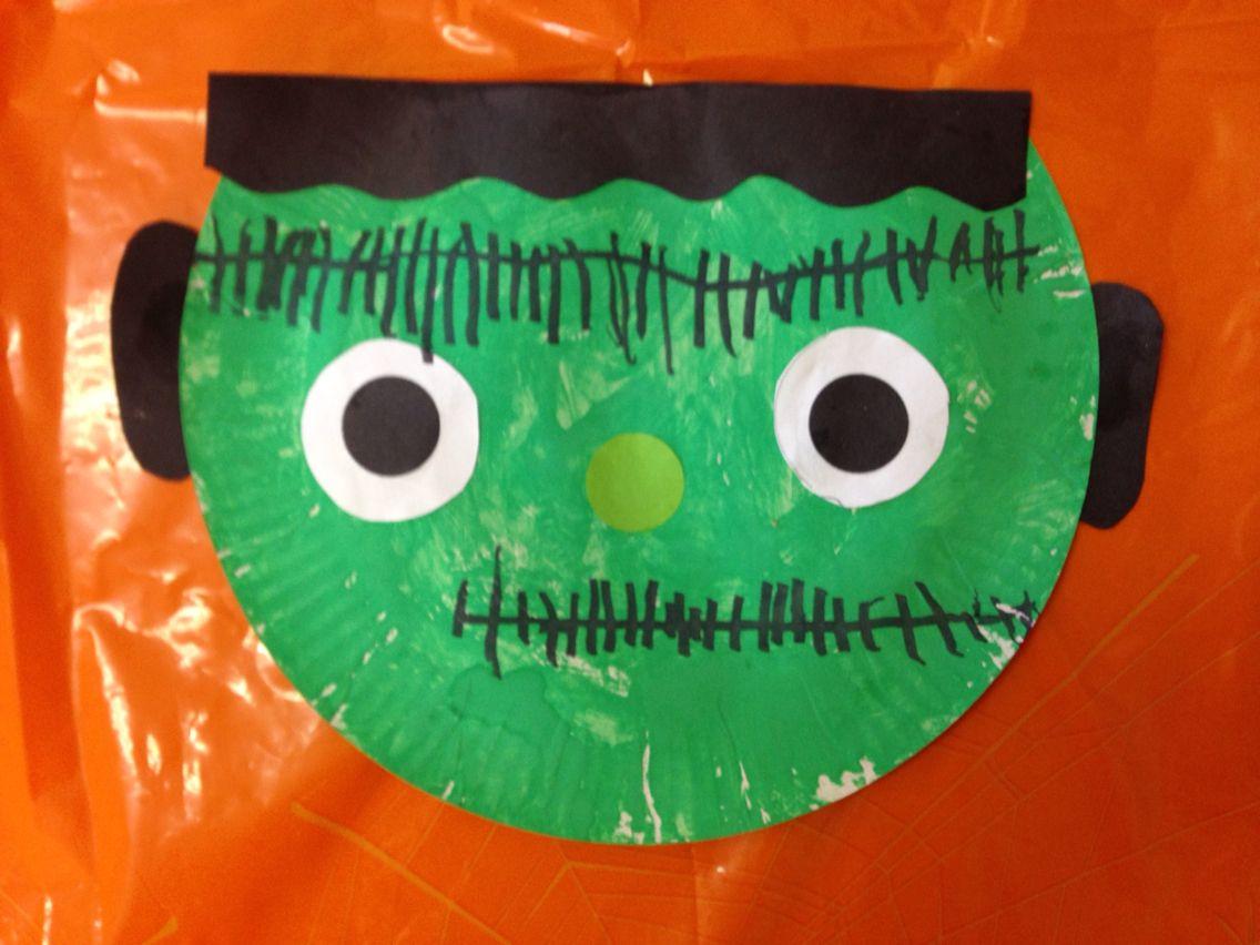 Frankenstein halloween paper plate craft montessori preschool frankenstein halloween paper plate craft montessori preschool jeuxipadfo Image collections