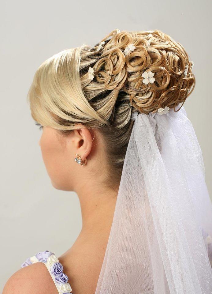 wedding hairstyle coif mariage   Coiffure de mariage ...
