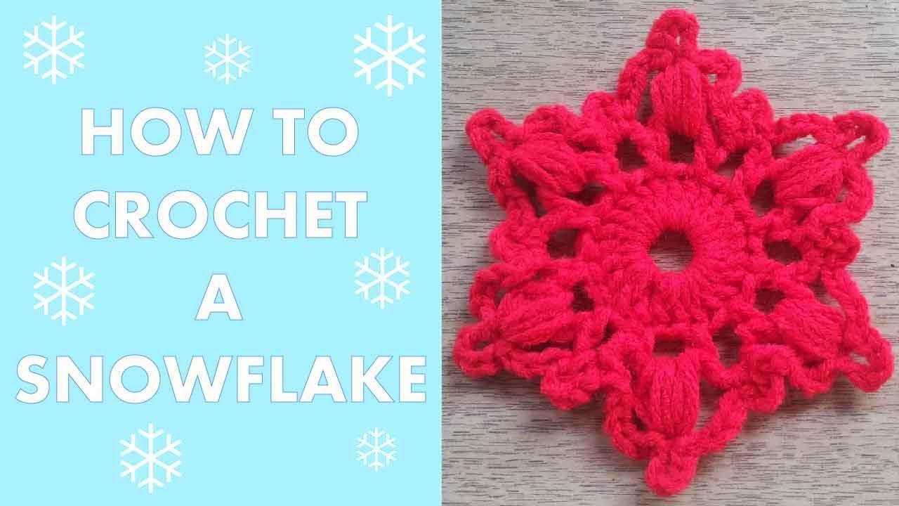 How to Crochet a Snowflake #2 | Manualidades Navideñas | Pinterest ...